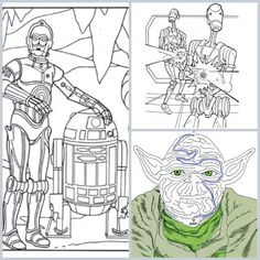Out of This Galaxy Fun: 6 Star Wars Coloring Pages #starwars