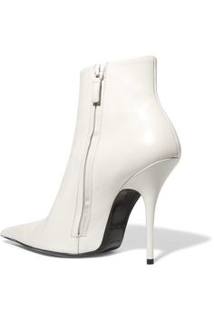 Balenciaga - Leather Ankle Boots - White - IT39.5