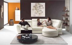 Living Room luxurious-white-sofa-sectionals-and-stunning-glass-round-coffee-table-and-comfy-white-fur-rug-and-exciting-brown-wall-color-decoration-ideas-with-cozy-comfortable-living-room-design-2014-design Elegant Living Room Design 2015 and Interior Decoration Ideas