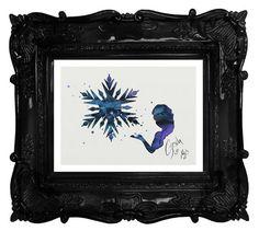 Frozen archival fine art print Elsa Watercolor by TentakittyInk