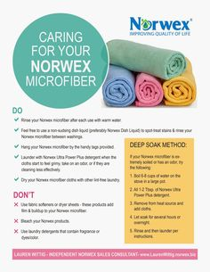 Body Care Tips and Tricks You Probably Didn't Know About Green Cleaning Party: Microfiber Care InstructionsGreen Cleaning Party: Microfiber Care Instructions Norwex Biz, Norwex Cleaning, Green Cleaning, Cleaning Cloths, Cleaning Recipes, Cleaning Hacks, Cleaning Supplies, Cleaning Schedules, Cleaning Solutions