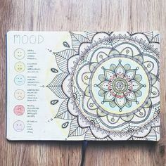 "1,331 Likes, 22 Comments - BJC | Bujo collection (@bulletjournalcollection) on Instagram: ""Mood Mandala. Fascinating, will be beautiful no doubt. . #Repost @bujo.mama with @repostapp ・・・…"""