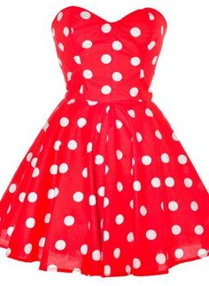 Red Polka Dot Party Dress,  Dress, polka dot dress  50s retro pin, Casual
