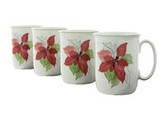Vintage Block SPAL Cups Set of Four Porcelain by PlumsandHoney