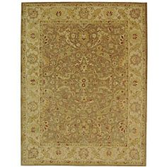 @Overstock - Thick, wool pile sets the stage for this stunning floral area rug. Hues of gold, ivory, rust, sage and brown infuse the hand-tufted rug.http://www.overstock.com/Home-Garden/Handmade-Antiquities-Treasure-Brown-Gold-Wool-Rug-12-x-18/4117111/product.html?CID=214117 $1,096.99
