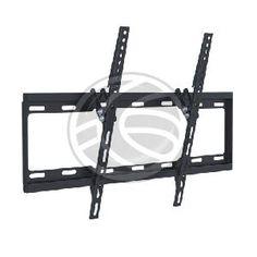 Soporte de TV para fijar una pantalla plana a pared. Modelo que sujeta la pantalla paralela a la pared y permite la inclinación de 0° a 14°. Fabricado en metal de color negro, robusto, minimalista y una vez instalado, es invisible al usuario. Soporte de la marca Brateck.