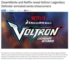 Legend of Korrateam announced as Show runners for Netflix's Voltron tv Series revamp. Good luck to them!Full Article Here