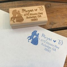Beauty and the Beast Stamp Address Stamp by MineByDesignStudio