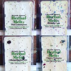 Too hard to choose! One of each please!  Swan Creek Melts- $5.95  #madisonsbluebrick #downtownhotsprings #swancreekmelts