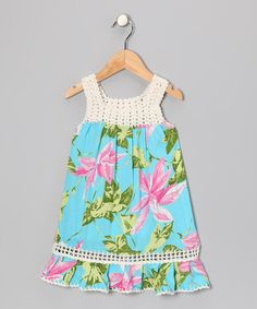 http://www.zulily.com/invite/vhanson979 Take a look at this Turquoise Coral Dress - Toddler by Coral & Reef on #zulily today!