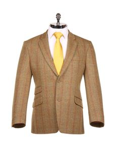 Brown with Blue Check Tweed Sports Jacket - Harvie & Hudson