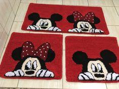 Tapete Frufru para Cozinha do Mickey e da Minnie - TAPETE FRUFRU DA DUDU