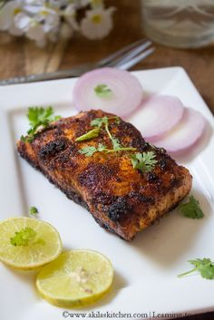 Indian style salmon fish fry is yet another easy n tasty recipe. I never tried salmon in India. After coming to Singapore, I tasted. Salmon Fish Fry Recipe, Indian Fish Recipes, Fried Salmon, Fried Fish Recipes, Healthy Chicken Recipes, Salmon Recipes, Seafood Recipes, Cooking Recipes, Seafood