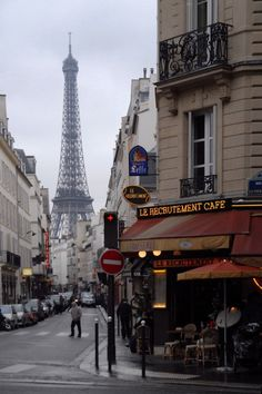 A Parisian cafe not so far from the Eiffel Tower - I had lunch there in 1986