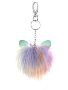 Colorful Pom Pom Keychain