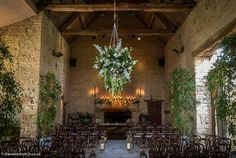 The wedding ceremony hall at Cripps Barn transformed by top Bristol florists, The Wilde Bunch. A Rustic Chic design Cripps Barn Wedding, Barn Wedding Venue, Wedding Ceremony, Barn Wedding Flowers, Stone Barns, Florists, Rustic Chic, Bristol, Floral Design