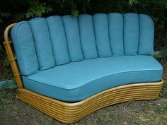 1930 cane back sofa country french sofas mid century bamboo rattan furniture couch 2 chairs ...