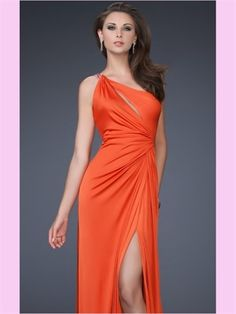 Column One Shoulder Chiffon 2013 Prom Dresses In a different color :)