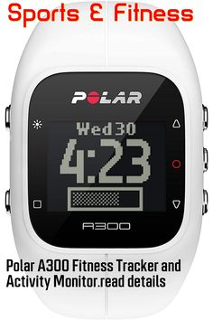 (This is an affiliate pin) Polar A300 Fitness Tracker and Activity Monitor Activity Monitor, Best Fitness Tracker, Fitness Activities, Heart Rate Monitor, Link, Top, Image, Crop Shirt, Shirts