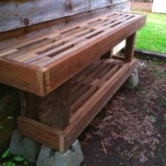 Potting table made from recycled deck boards