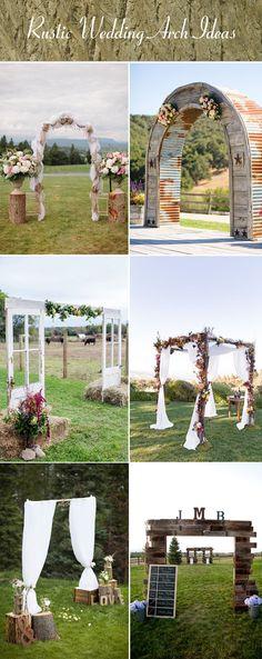 outdoor charming wedding arch ideas
