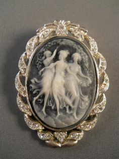 The Three Graces Costume Cameo Brooch $36