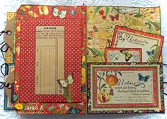 Scattered Pictures and Memories: Nature Sketchbook Folio ~ Mini Album with Video Walk-through and Tutorial