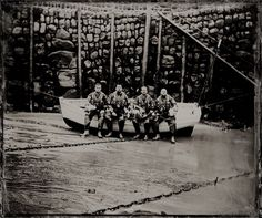Four Helmsmen at Clovelly RNLI, Devon | The Lifeboat Station Project by Jack Lowe