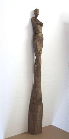 Holzskulptur HANNAH XXL ORIGINAL datiert und