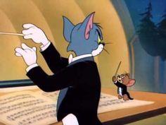 Tom Jerry - The Conductor Preschool Music, Teaching Music, Art Music, Music Songs, Music Videos, Instruments, School Videos, Vintage Cartoon, Music For Kids