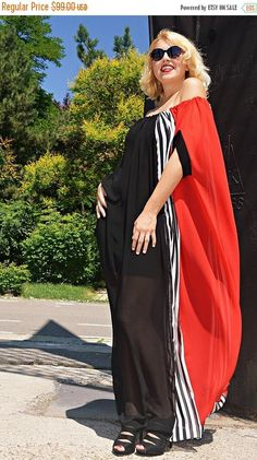 Party Summer Maxi Dress Long Striped Dress Off Shoulder Dress Elegant Evening Dress Chiffon Wedding Dress Mother of the Bride Dress Chiffon Evening Dresses, Chiffon Dress, Summer Maxi, Party Summer, Maxi Robes, Elegant Dresses, Striped Dress, African Fashion, Rock
