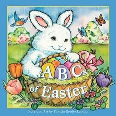 Three fuzzy bunnies and their animal friends explore the alphabet of Easter. (Grades: K-3) Call number: PZ8.3.E88 Abc 2010