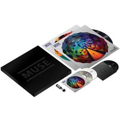 The muse.mu limited edition box set of The Resistance, including a CD, DVD, double vinyl, USB flash drive and a poster.