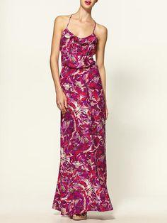 summer wedding. Parker Silk Maxi Dress