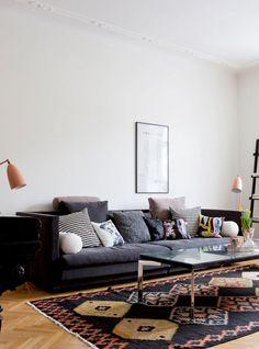 Apartamento preto e branco