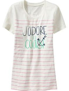 Women's Nautical-Graphic Tees   Old Navy