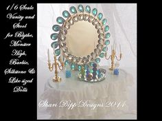 1/6 scale Light Blue Vanity Set for Blythe by ShariDeppDesigns, $48.00