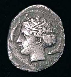 Ancient Silver Coin Sicily Artemis-Arethusa Head & Charioteer - http://www.busaccagallery.com/catalog.php?catid=145=5988=1#