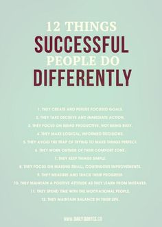 Successful daily rituals to make each day count and get you closer to your goals!