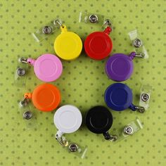 25 Badge Reel/Reels Lanyard ID Retractable Clips and Plastic Strap | Available at ILikeBigButtons.com