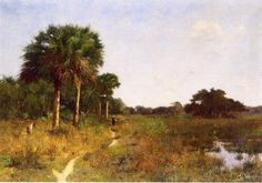 Midwinter en Floride, huile sur toile de William Lamb Picknell (1853-1897, United States)