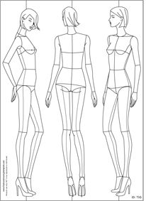 Fashion Drawing Template / Croquis.