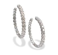 Alson Signature Collection Inside/Out Diamond Hoop Earrings