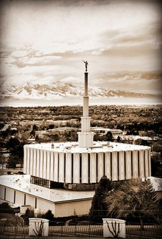 Sepia, Provo Temple    Find more LDS inspiration at: www.MormonLink.com