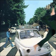 An accident in Abbey Road. Is this the reason why people say Paul was dead?? lol