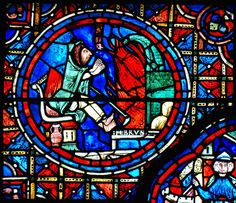 Foot Warming, Zodiac Window, Chartres Cathedral