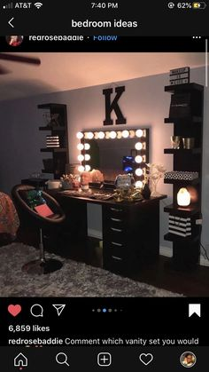 - Mirror Designs - Amazing Bedroom Design Ideas Color Bedroom Ideas - Locate your preferred bedroom pictures right here. Browse through pictures of inspiring bedroom design ideas to produce your ideal residence. All the bedroom. Teen Room Decor, Room Ideas Bedroom, Diy Bedroom, Budget Bedroom, Bedroom Decor Glam, Diy Room Decor Tumblr, Black Room Decor, Bedroom Apartment, Girl Bedroom Designs
