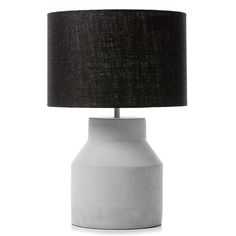 Concrete Table Lamp Grey