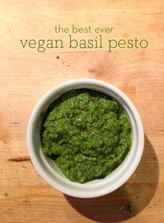 Vegan Basil Pesto... Too bad it includes nuts