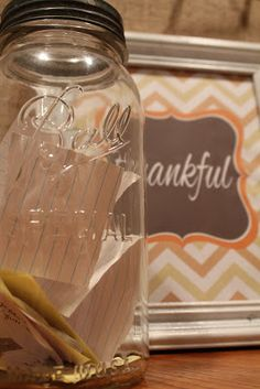 Becca Bee: Thankfulness in a Jar (I'm stealing this tradition! Both the thankfulness and the journal!)